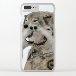 Shouting Match Clear iPhone Case