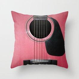 Pink Guitar Throw Pillow