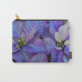 Purple poinsettia flowers Carry-All Pouch