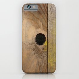 OLD WOODEN BOARD  iPhone Case