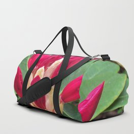 Showing Promise, A Rhododendron Bud Duffle Bag