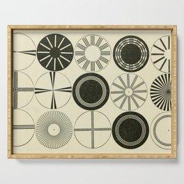 Vintage Astigmatic Chart Serving Tray