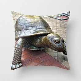 The Tortoise 2 Throw Pillow