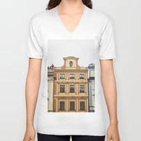 prague V-neck T-shirts featuring Prague   by Kameron Elisabeth