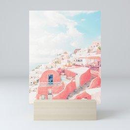 Mamma Mia Greece Pink Streets Old Village photography Mini Art Print