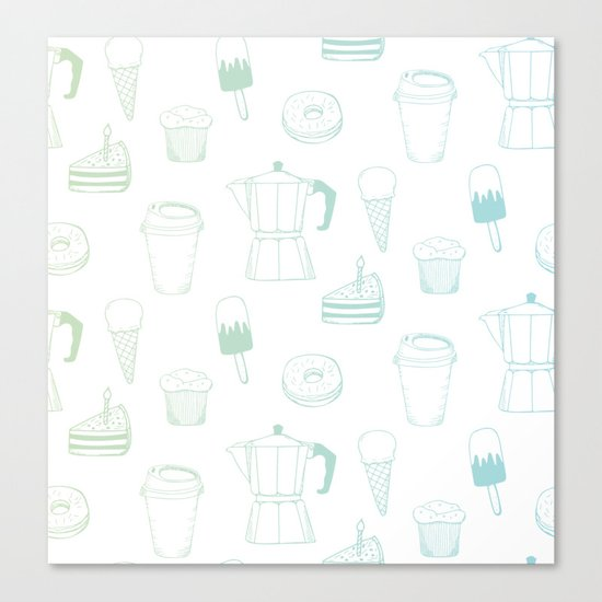 Coffee and Dessert Canvas Print
