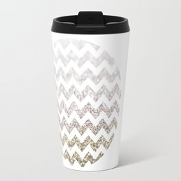 Glitter Chevron Travel Mug