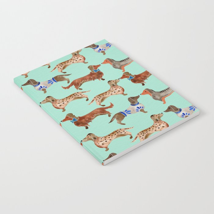 Dachshunds on Blue Notebook