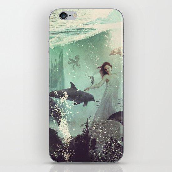 The Sea Unicorn Lady iPhone & iPod Skin