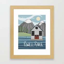 Greetings from Powell River w/Text Framed Art Print