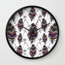 Dance of Feathers Wall Clock