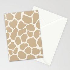 Giraffe Animal: Camel Cream Stationery Cards