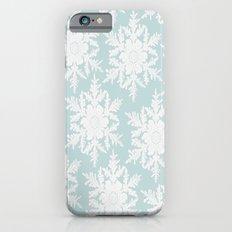 Wedgewood Blue Winter Christmas Snowflake Design Slim Case iPhone 6s