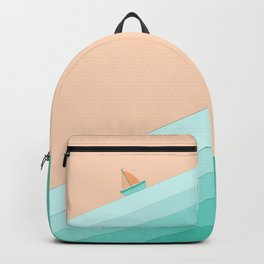 Boat on the Water #1 Backpack