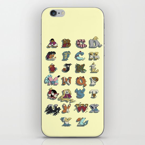 The Disney Alphabet iPhone & iPod Skin