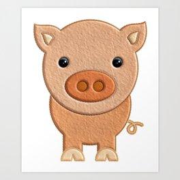 Cerdito de peluche - Pig of teddy Art Print