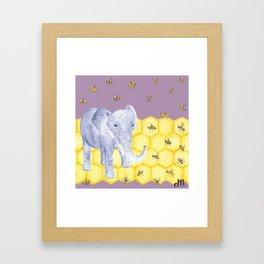 Elephant & Bees Framed Art Print