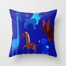 Animal Fever! Throw Pillow