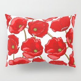 cute red poppies Pillow Sham