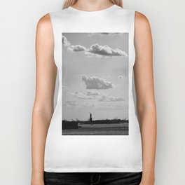 Black and White Silhouette Lady Biker Tank