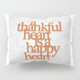 Thankful Heart: Typography Pillow Sham