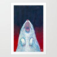 rat Art Prints featuring rat by Sara Bea