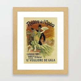 Theatre de l'Opera Carnaval 1896 - Jules Cheret Framed Art Print