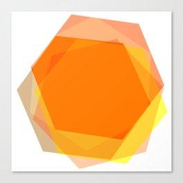 Orange Hex Canvas Print