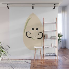 Pistachio with Mustachio Wall Mural