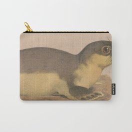 Vintage Illustration of a Harbor Seal (1874) Carry-All Pouch