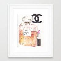 perfume Framed Art Prints featuring Perfume by AshleyRose