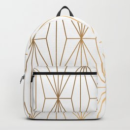 Gold Geometric Pattern Illustration Backpack