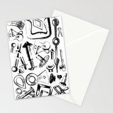 Hardware Black Stationery Cards