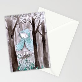 Wild girl Stationery Cards