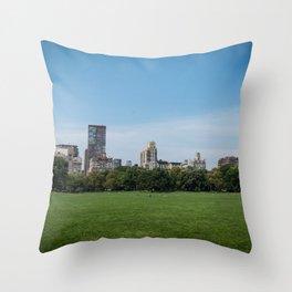 Sheep Meadow, Central Park Throw Pillow