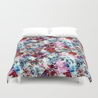 floral pattern Duvet Covers featuring Floral Pattern by Eduardo Doreni