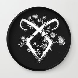 Angelic Rune Wall Clock