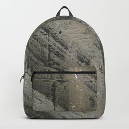 Gray striped abstract painting Backpack