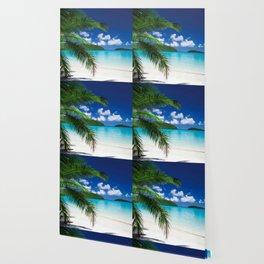 Classic Tropical Island Beach Paradise Wallpaper