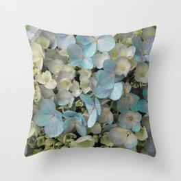 White Spring Hydrangeas Macro Flower Photography, Shabby Chic Spring Flower Decor, Bedroom Decor, Gi Throw Pillow