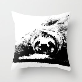 A Smiling Sloth Throw Pillow