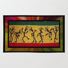 lively up reggae dancers Rug