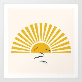 Minimalistic Summer I Art Print