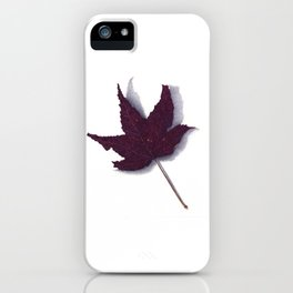 Sweet Gum Leaf Watercolor iPhone Case