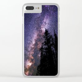 Celestial Starlight in the Forest Near  Lake Irene Colorado by OLena Art - brand Clear iPhone Case