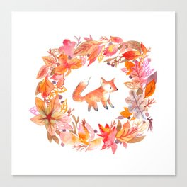 Fall Wreath Canvas Print