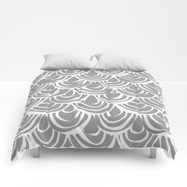 monochrome scallop scales Comforters