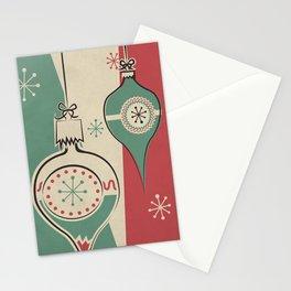 Retro Christmas Ornaments Stationery Cards
