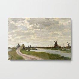 Claude Monet - Windmills Near Zaandam Metal Print