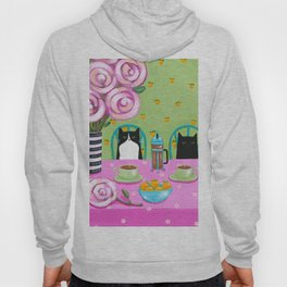 French Press Coffee Cats Hoody